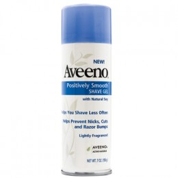 Soy, in AVEENO POSITIVELY SMOOTH SHAVE GEL ($3.99) at drugstores can make hair less noticeable.