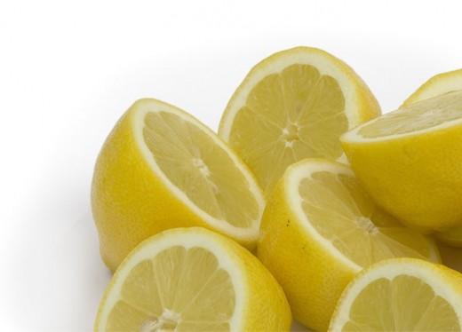 Six half lemons pic