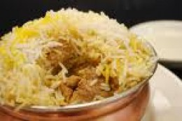 Notice that the rice grains are long and separate.This dish is particularly famous as it absorbs the aromas of spices and blends with the Basmati aroma.