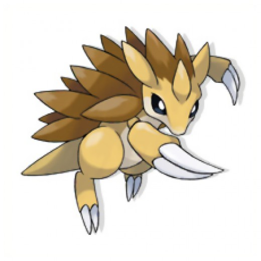 Sandslash is a mouse type pokemon, and is the evolution of Sandshrew.