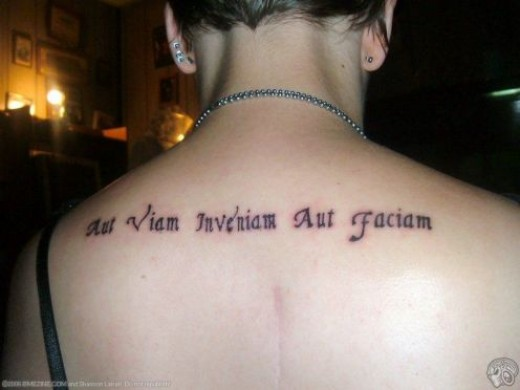 Some tattoo lovers like Asian sayings. Indian wisdom is definitely a great