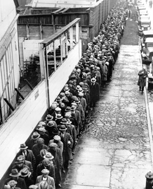 During the 1930s depression, millions were homeless. These people were referred to as hobos.