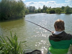 Taking children fishing