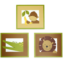 Bedtime originals- baby zoo 3 piece wall hanging available at walmart.com, photo credit: walmart.com