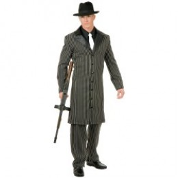 Teen Long Jacket Gangster Zoot Suit for your teenage young man. Get the accessories and really zing the 20's look for a Halloween Costume.