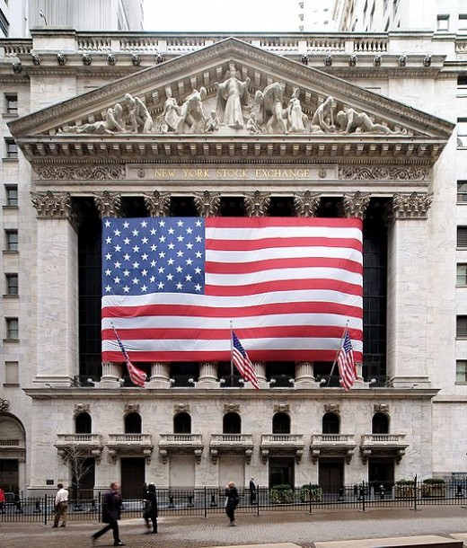 New York Stock Exchange - One of the World's largest stock exchanges.