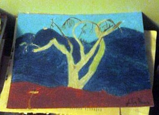 Here I used oil pastels to create an artistic rendering of the San Bernardino Mountains.