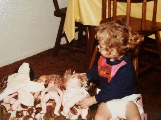 I had a thing about stripping my dolls down to their birthday suits.