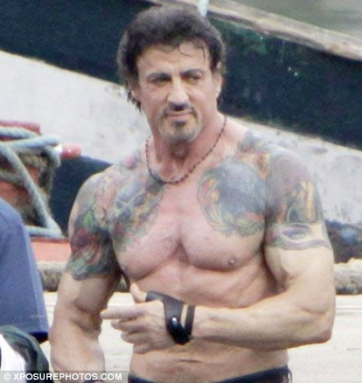 Sylvester Stallone Chest Tattoo