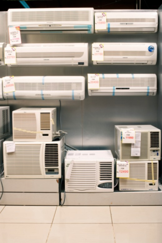 Air Conditioning Units can be found at Home Improvement stores, Department Stores and Online.