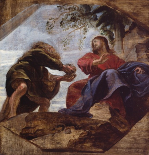 """Temptation of Christ"" by Rubens"