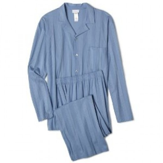 Top of the range Hanro Turin PJ in pearl blue