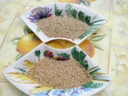 Basmati and short grain rice - the unrefined versions.