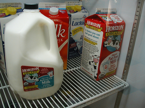 Several types of milk for lactose intolerant people photo: rae @flickr