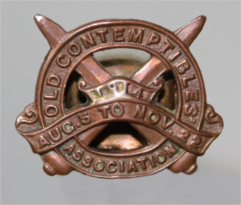 Old Contemptible badge that Harry wore with pride!