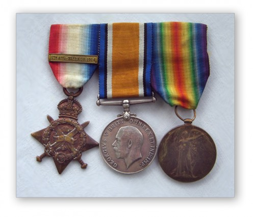 The medals that Harry wore on his chest every Anzac Day