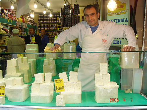 Fresh Cheese in Istanbul (Photo courtesy by Papatia USA from Flickr.com)