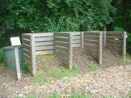 Composting turning unit, used for educational purposes