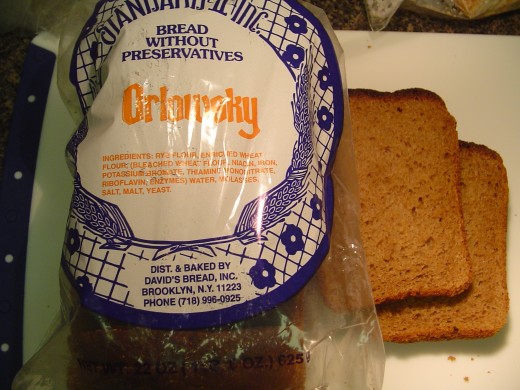 Orlowsky dark rye bread package and  slices