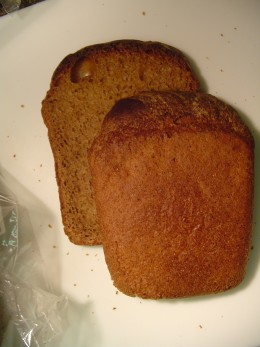 Back side of the bread slices
