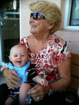The real me with my great-grandson, Erik