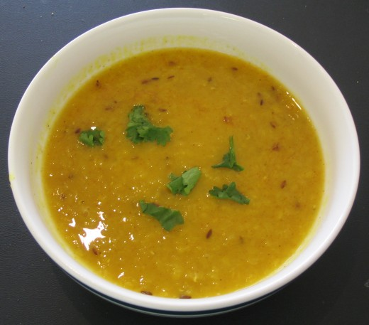 Tarka dal with cumin - Indian cuisine