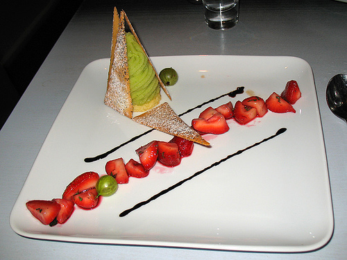 Tradizionale balsamico is wonderful with frest strawberries