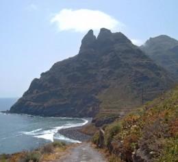 Beach and cliffs at Punta del Hidalgo