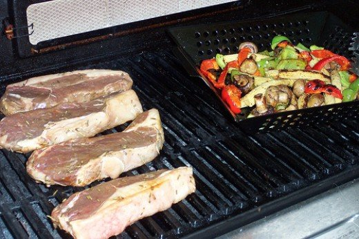Buffalo Steaks on the Grill - Delicous! photo: paige_eliz @flickr