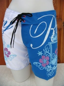 Surfing Shorts in Blue and White
