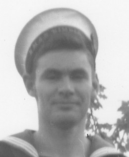 The writer as a sailor in the late 1950s