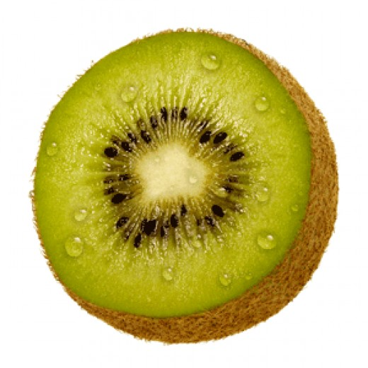 Kiwi Fruit (kiwifruit) is a berry that is about the size of a hen egg.