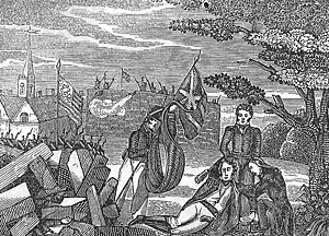 An artists depiction during the war of 1812.  The war where beef was smuggled in to aid the British in Canada at the time.