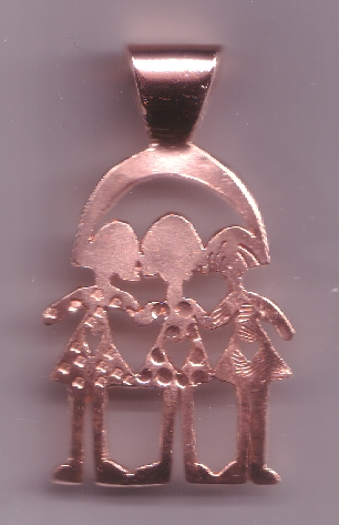 """Inner Child"" Pendant - Copper Cut work"