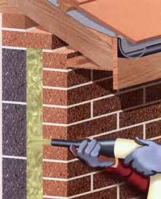 Cavity wall insulation