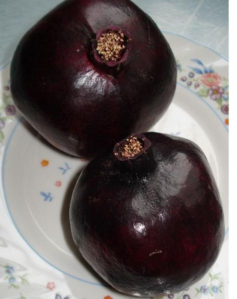 Black pomegranates