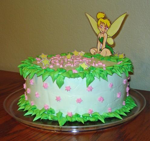 Tinkerbell Birthday Cake Cupcakes