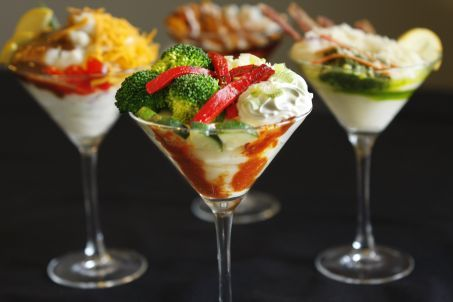 Upscale comfort foods are wildly popular, such as the mashed potato bar.