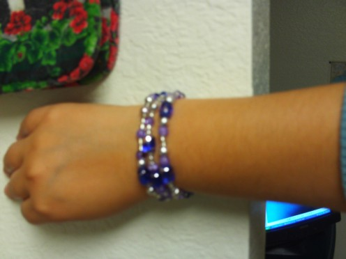 A cute bracelet I made. (Photo Taken By Sweetiepie On Hubpages)