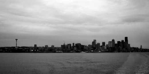 No, this is not a photo in black and white. This is the way Seattle looks right now.