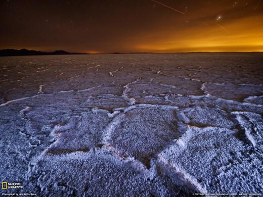 Bonneville Salt Flats at Night, Utah