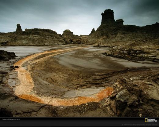Danakil Desert Landscape
