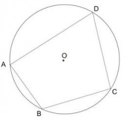 ABCD is a cyclic quadrilateral drawn inside the circle centre O.