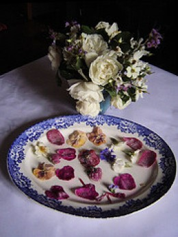 Sugared flowers for cakes