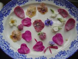 Sugared flowers make pretty decorations