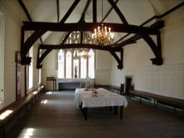 The banqueting room in the Guildhall
