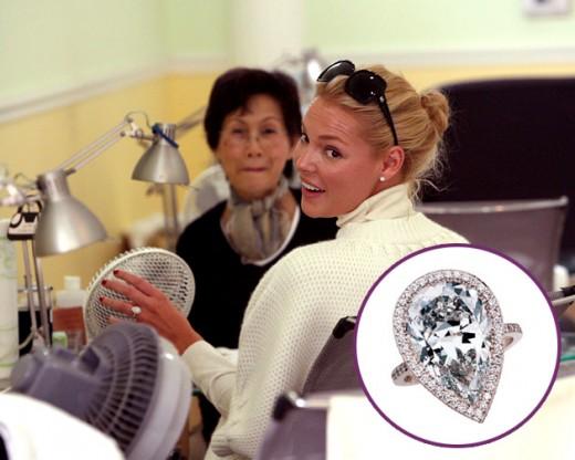 Celeb Wedding Ring: Katherine Heigl 's Engagement Ring, 3 carat pear shape