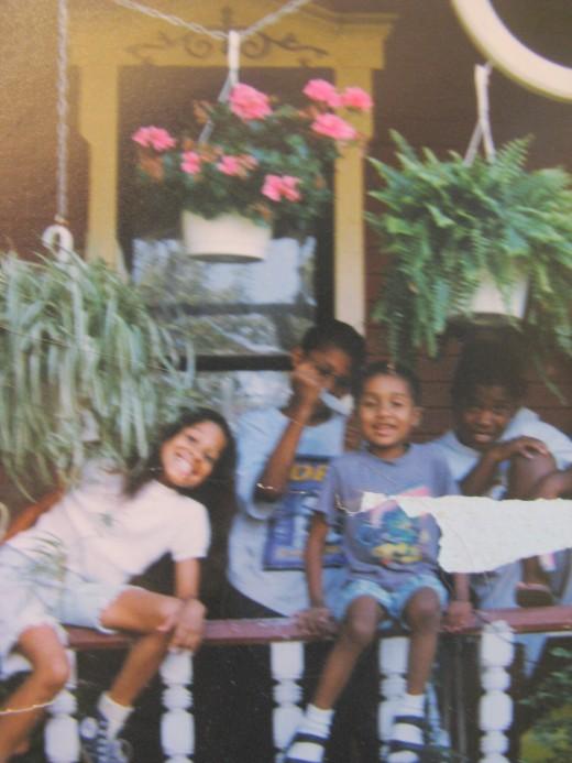 My three youngest Elijah, Rachael, Jacob and a random neighbor