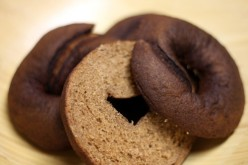 Homemade whole wheat pumpernickel bagels