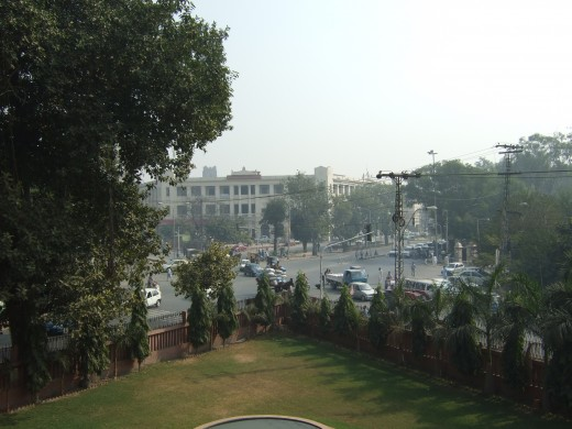 View of the road from the GPO